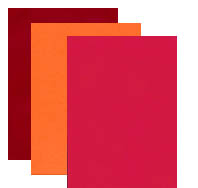 A4 paper - Red, Orange & Yellow