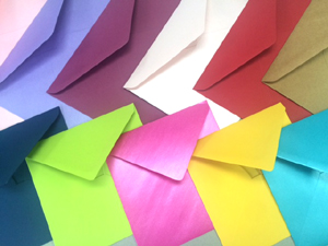 Home page colourful envelopes