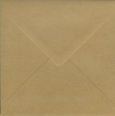 Kraft 100% recycled 160mm square Envelope